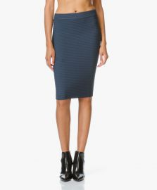 T by Alexander Wang Rib Fitted Pencil Skirt at Perfectly Basics