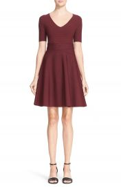 T by Alexander Wang Rib Knit Fit   Flare Dress at Nordstrom