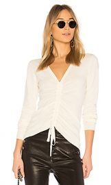 T by Alexander Wang Ruched Merino Sweater in Ivory from Revolve com at Revolve