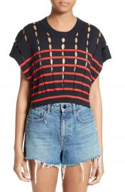 T by Alexander Wang Stripe Knit Pullover at Nordstrom