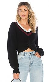 T by Alexander Wang Twist Front Sweater in Black from Revolve com at Revolve