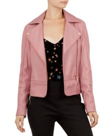 TED BAKER LIZIA LEATHER BIKER JACKET at Bloomingdales