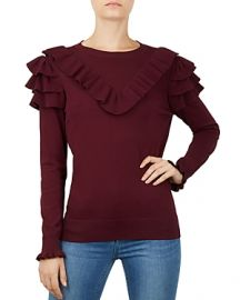 TED BAKER YOWSIE RUFFLE-TRIMMED SWEATER at Bloomingdales