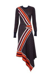TEMPERLEY LONDON PETROL MIX KNIT DRESS at Rent The Runway