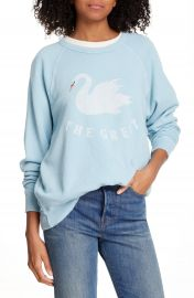 THE GREAT  The College Swan French Terry Sweatshirt   Nordstrom at Nordstrom