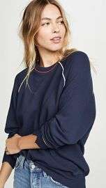 THE GREAT  The College Sweatshirt with Multi Piping at Shopbop