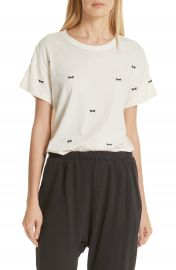 THE GREAT  The Embroidered Boxy Crew Tee   Nordstrom at Nordstrom