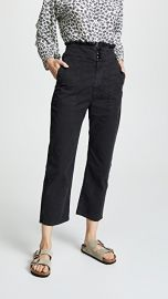 THE GREAT  The High Rise Ruffle Army Pants at Shopbop