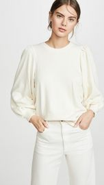 THE GREAT  The Pleat Sleeve Sweatshirt at Shopbop