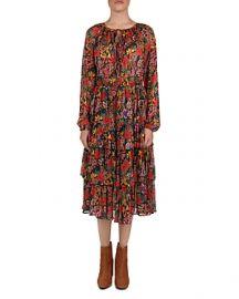 THE KOOPLES FLORAL TIERED PEASANT DRESS at Bloomingdales