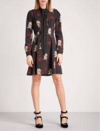 THE KOOPLES Poppy crepe dress at Selfridges