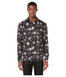 THE KOOPLES WILD ROSES PRINT SHIRT at Zappos