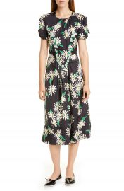 THE MARC JACOBS Sofia Loves the 40s Floral  amp  Dot Jacquard Midi Dress   Nordstrom at Nordstrom