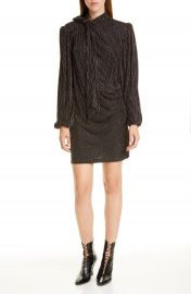 THE MARC JACOBS The Disco Metallic Stripe Long Sleeve Minidress   Nordstrom at Nordstrom