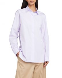 THE ROW Big Sisea Button-Front Long-Sleeve Cotton Oxford Shirt at Neiman Marcus