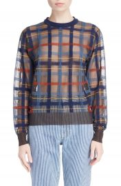 TOGA Check Knit Sweater at Nordstrom
