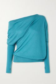 TOM FORD - One-shoulder cashmere and silk-blend sweater at Net A Porter