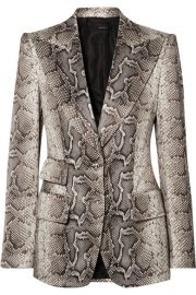 TOM FORD - Snake-print cotton-blend twill blazer at Net A Porter
