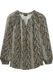 TOM FORD   Snake-print silk-georgette blouse at Net A Porter