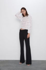 TULLE AND SEQUIN SWEATER at Zara