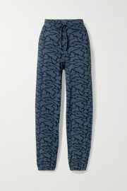 TWENTY Montr  al - Hyper Reality cotton-blend jacquard-knit track pants at Net A Porter