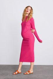 TWO TONE KNIT DRESS at Zara