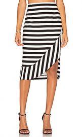 TY-LR The Borsa Stripe Skirt in Black  amp  White Stripe from Revolve com at Revolve