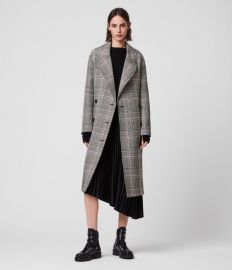 TYLA CHECK TRENCH COAT at All Saints