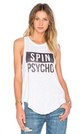 TYLER JACOBS Venice Beach Spin Psycho Tank in White from Revolve com at Revolve