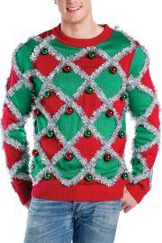 Tacky Tinsel Ugly Christmas Sweater at Tipsy Elves
