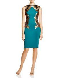 Tadashi Shoji Sleeveless Sequin Color Block Dress at Bloomingdales