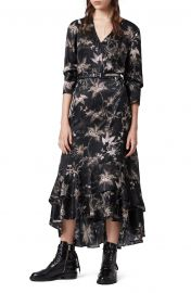 Tage Evolution Floral Print High/Low Wrap Dress at Nordstrom