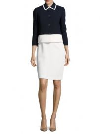 Tahari ASL Colorblock Pique Button-Front Jacket at Lord & Taylor