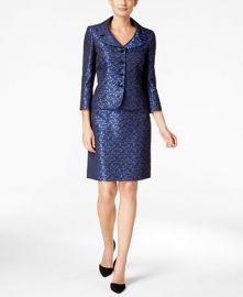 Tahari ASL Jacquard Skirt Suit  at Macys
