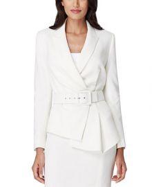 Tahari ASL Petite Belted Asymmetrical Crepe Blazer   Reviews - Wear to Work - Petites - Macy s at Macys