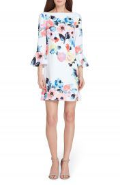 Tahari Floral Bell Sleeve Shift Dress at Nordstrom