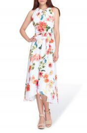 Tahari Sleeveless Floral Chiffon Midi Dress at Nordstrom