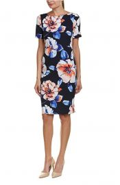 Tahari by ASL Womens Floral Scuba Crepe Sheath Dress at Amazon