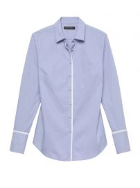 Tailored Super Stretch Blouse by Banana Republic at Banana Republic