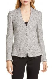 Tailored by Rebecca Taylor Fringe Detail Tweed Jacket   Nordstrom at Nordstrom
