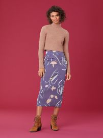 Tailored Midi Pencil Skirt at DvF