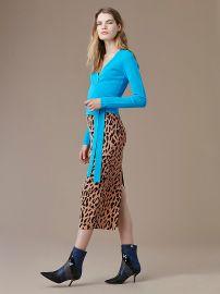 Tailored Midi Pencil Skirt at DvF