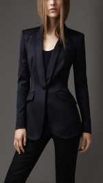 Tailored tuxedo blazer by Burberry at Burberry