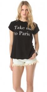 Take me to Paris tee by Wildfox at Shopbop
