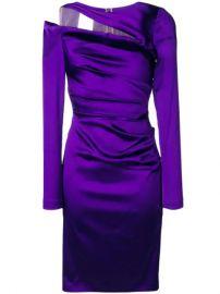 Talbot Runhof cut-out Detail Wrap Dress - Farfetch at Farfetch
