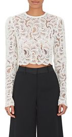 Talia Guipure Lace Crop Top at Barneys