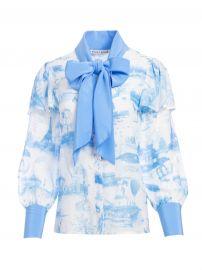 Talulah Ruffle Sleeve Blouse by Alice + Olivia at Alice + Olivia