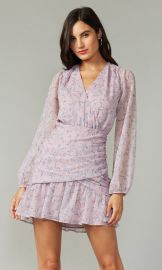 Tamara Crinkled Georette Dress at Greylin