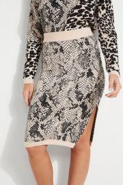 Tamelia Animal Print Midi Skirt by Guess at Guess