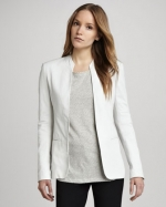 Tamler white leather jacket by Theory at Neiman Marcus